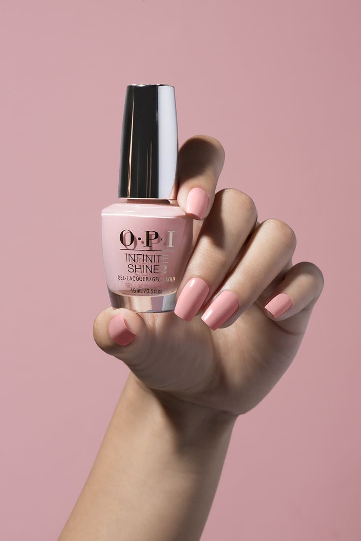 "Image excellent pink nail polish. Check out ""Tagus In That Selfie"" in OPI Infinite…"