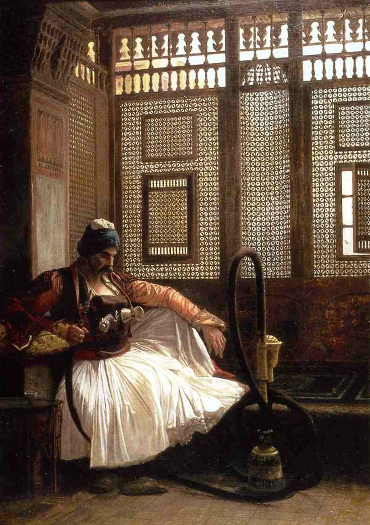 Jean Léon Gérôme (1824-1904) - Arnaut Fumant (1865)