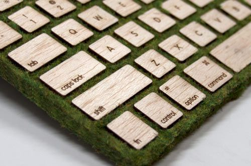 "In an effort to create something ""both visually and tactile-ly stimulating,"" Robbie Tilton designed and fabricated the Natural Keyboard as a way to return to a more organic product."