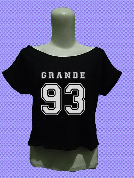 ariana grande 93 crop top tee shirt tshirt womens women girls fashion outfit #Unbranded #CropTop #Casual