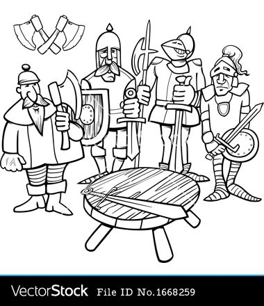 knights of the round table coloring pages knights of the round table coloring page vector