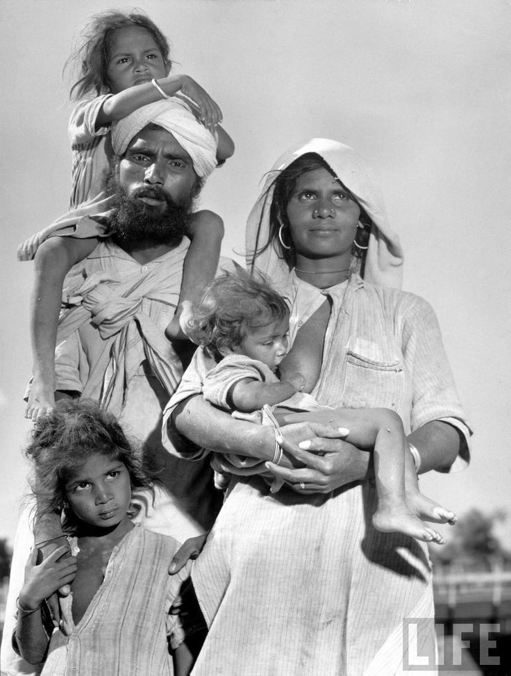 A sikh and family migrating to East Punjab in a convoy.