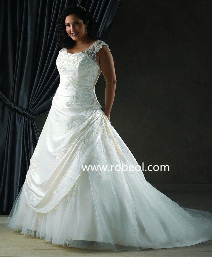 Robe De Mariée Perle En Taffetas