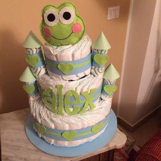 AMICHE SCRAPPOSE: torta di pannolini... RANA!!