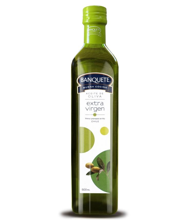 Aceite de Oliva Extra Virgen Banquete 500ml. Un aceite con aroma y sabor increíble.