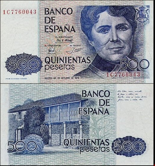 Billetes 500 pesetas.