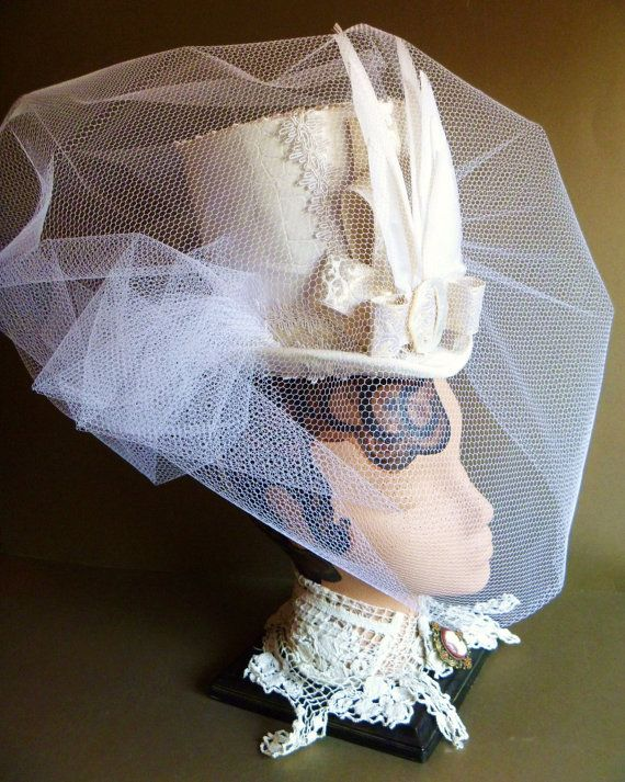White Wedding Steampunk Faux Crocodile by ClockworkCouture on Etsy, $600.00