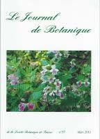 """""""Le Journal de Botanique est une revue trimestrielle publiée depuis 1997 par la Société botanique de France traitant des disciplines fondamentales et classiques de la botanique : floristique, chlorologie, systématique, phytosociologie, phytogéographie, phytoécologie et des disciplines annexes, ainsi que de botanique appliquée."""" Numéros en ligne de 1884 à 1910 sur Gallica http://gallica.bnf.fr/ark:/12148/cb32797179z/date BU LILLE 1 COTE 58(05)JOU https://lc.cx/4kTA"""