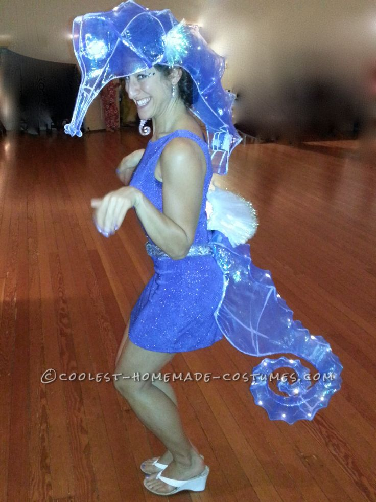 One-of-a-Kind Surreal Seahorse Costume With Lights!... Coolest Halloween Costume Contest