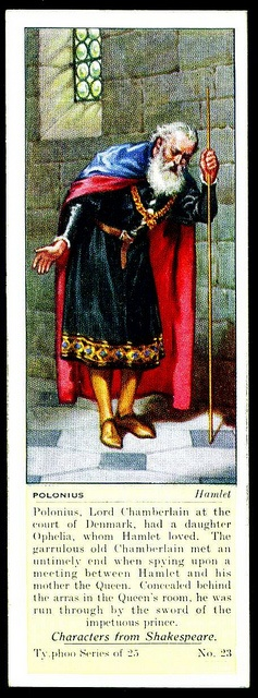 Typhoo Tea Card - Polonius ~ Hamlet by cigcardpix, via Flickr