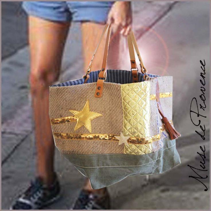 sac cabas fait main en jute e cuir 5 bags baskets. Black Bedroom Furniture Sets. Home Design Ideas