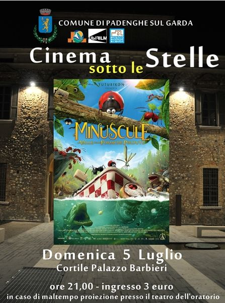 Cinema sotto le stelle a Padenghe http://www.panesalamina.com/2015/38010-cinema-sotto-le-stelle-a-padenghe-2.html