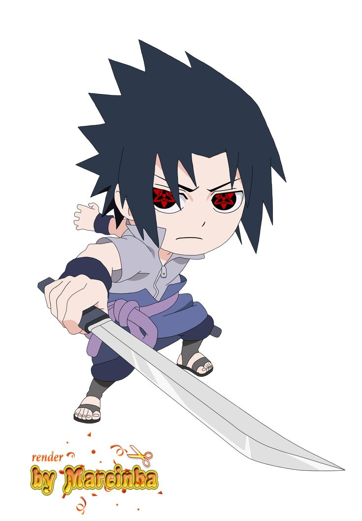 sasuke chibi | Render Chibi Sasuke Eternal Mangekyou by ...