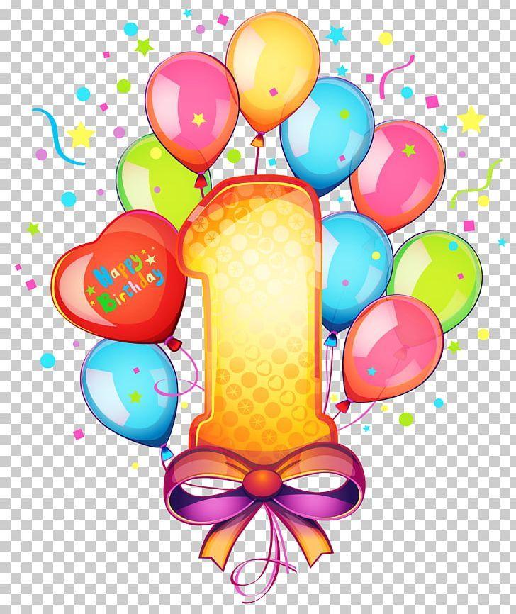 Birthday cake png 1 year old balloon birthday card
