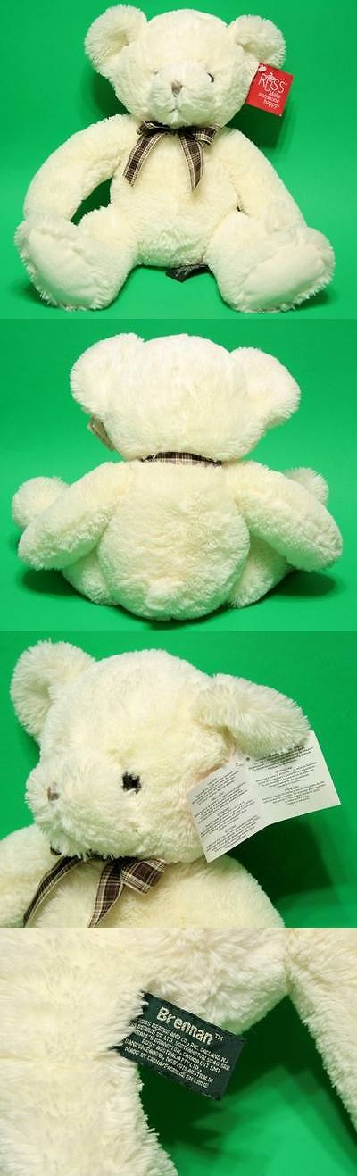 Other Russ Stuffed Animals 16516: Russ Berrie Plush Beanbag White Teddy Bear Brennan 34050 16 Plaid Bow W Tag -> BUY IT NOW ONLY: $34.99 on eBay!