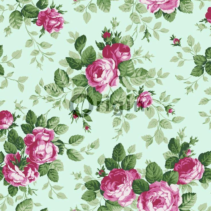 Origin-Tapetti Bloomingdale 326139 0,53x10,05 m mintunvihreä, pinkki