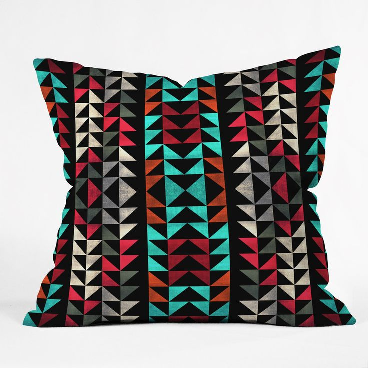Caleb Troy Volted Triangles 02 Throw Pillow | DENY Designs Home Accessories