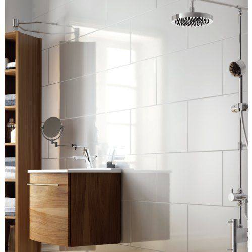 Large tile - Exmoor High Gloss Large White Bathroom And Kitchen Ceramic Wall Tile 30x60 | eBay