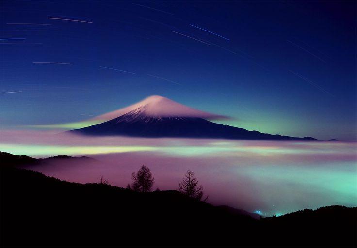 cloud and Fuji
