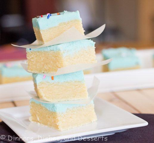 Sugar Cookie Bars @Dinnersdishesdessert