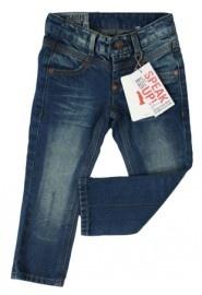 Superhippe Imps & Elfs straight fit jeans van donkere spijkerstof. Een echte `must-have` jeans met triple stitching en ronde klepzakken achter.