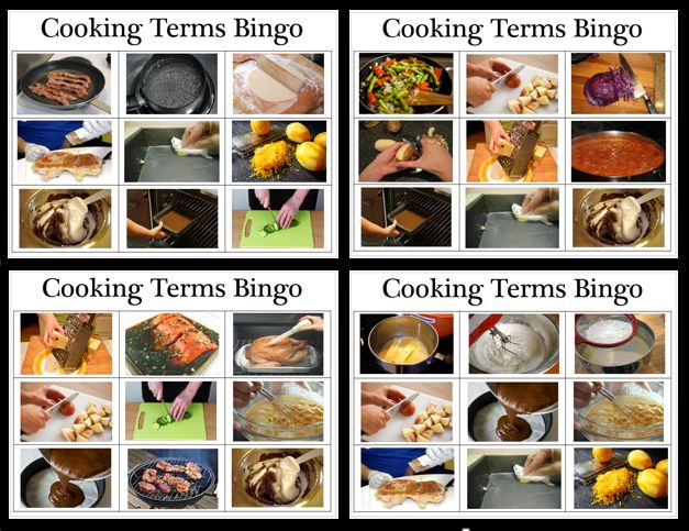 Empowered By THEM: Cooking Terms Bingo
