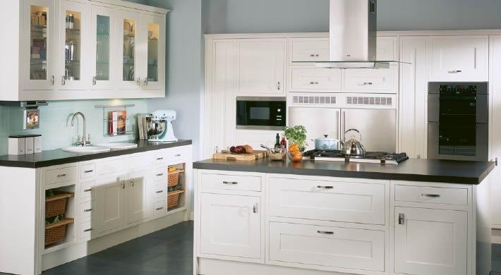 The Kuta Range. An extremely versatile kitchen to satisfy even the most modern tastes. #bespoke #kitchen #white #ash