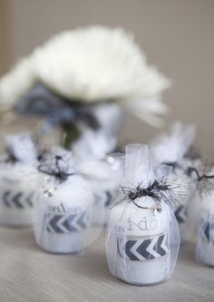 Washi tape tea lights wedding or bridal shower favors! Super cute and super cheap!!!