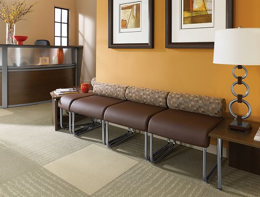 Benches would be the most practical but not pretty... - http://www.ofwllc.com