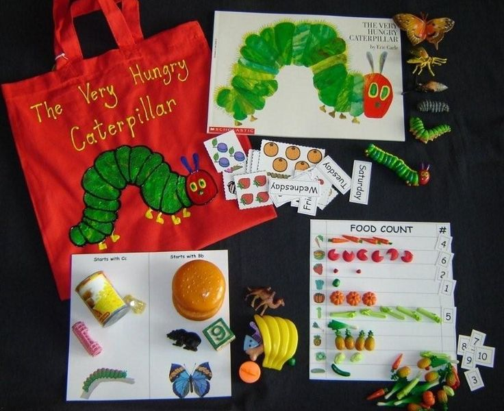 Very Hungry Caterpillar literacy bag