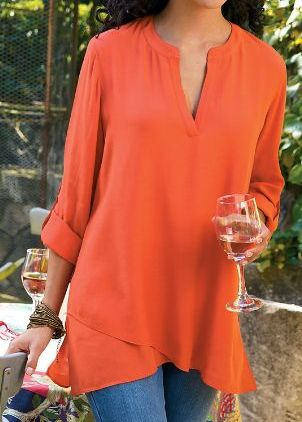 I like this tunic, but in a softer color. Tunics: The Perfect Fashion For Women Over 50 | ZestNow
