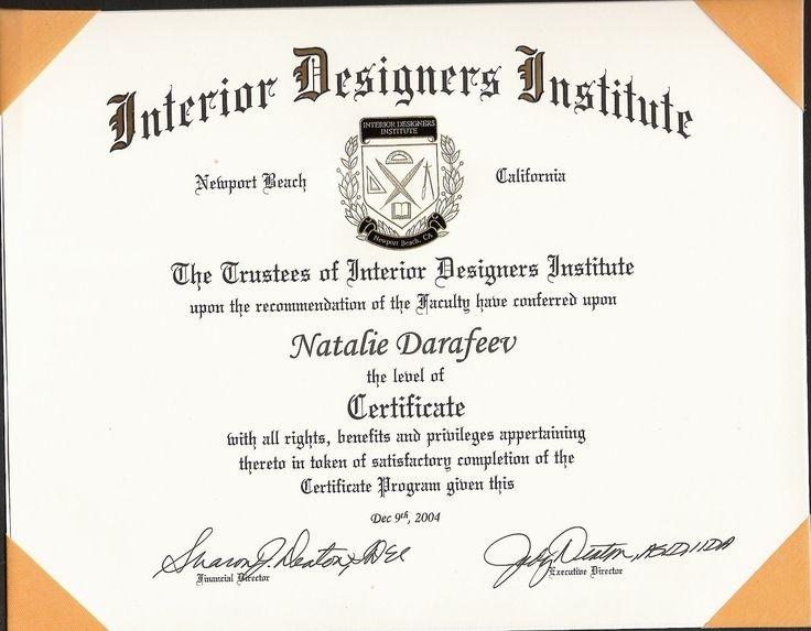 Interior Design Certification Programs