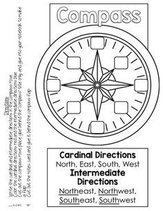 Geography Interactive Notebook: compass, grid map, continents, oceans, Me on the Map Project!