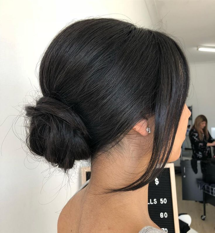 low bun, with just the right amount of height