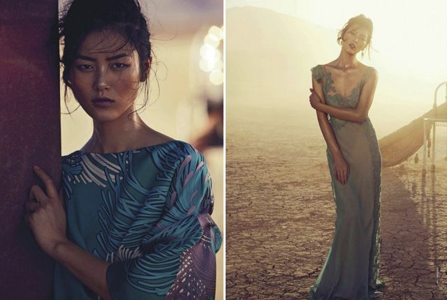 'On with the Show' Liu Wen by Will Davidson for Vogue Australia March 2013 [Editorial]