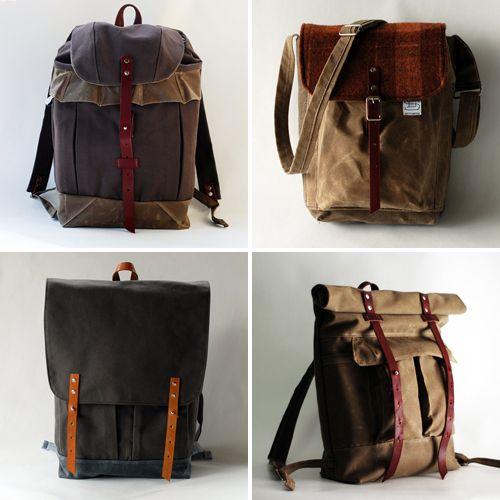 Handmade backpacks from Sketchbook