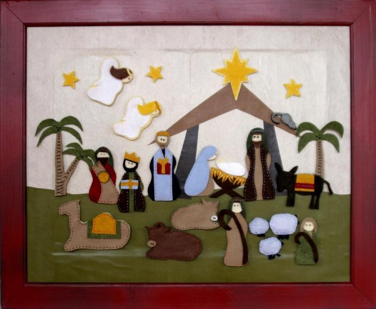 Diy Advent Calendar Nativity : Nativity scene advent calendar pieces one is added