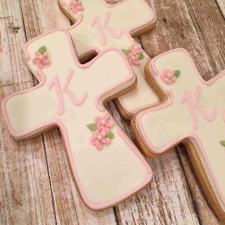 Pink Baptism Favors for Girls, Personalized Cross Cookie Favors for Communion, Confirmation - 1 dozen by SplitRockCreations on Etsy https://www.etsy.com/listing/230530574/pink-baptism-favors-for-girls