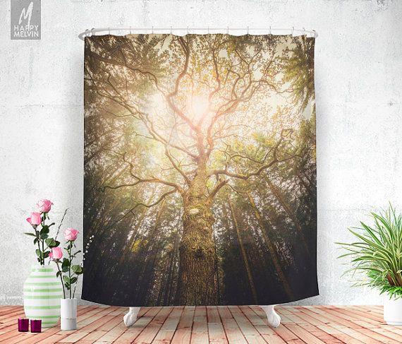 i found a tree in the forest shower curtain bathroom decor home decor boho decor wanderlust nature decor curtains