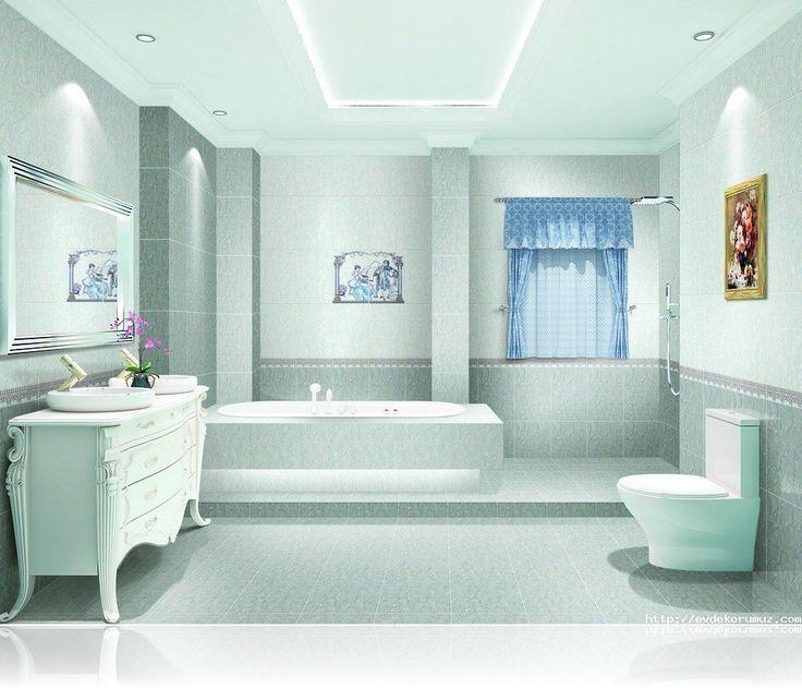 Hafif Mavi Banyo Modelleri