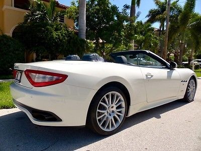 White Maserati Convertible