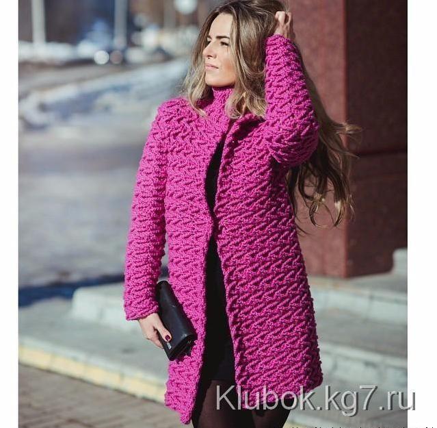 Пальто крючком от Полины Крайновой | Клубок