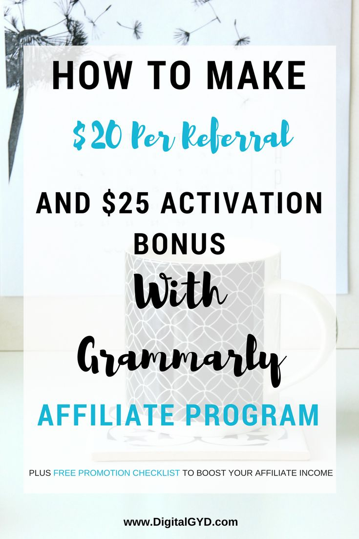 127 best blogging for newbies images on pinterest blogging how to make money from grammarly affiliate program 25 activation bonus fandeluxe Choice Image