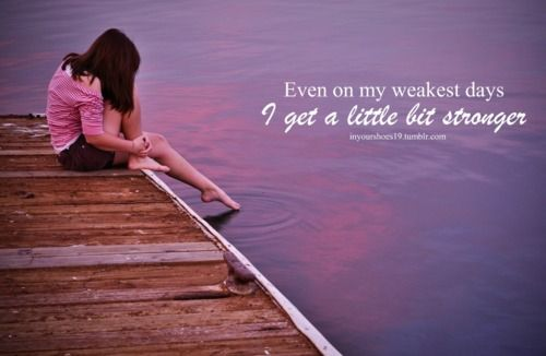 """""""A little bit Stronger""""- Sara Evans..... Love this song, soooo real and really hit home at one time in my life"""