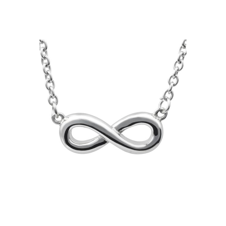 Women's Journee Collection Infinity Pendant Necklace in Stainless Steel - Silver (18)