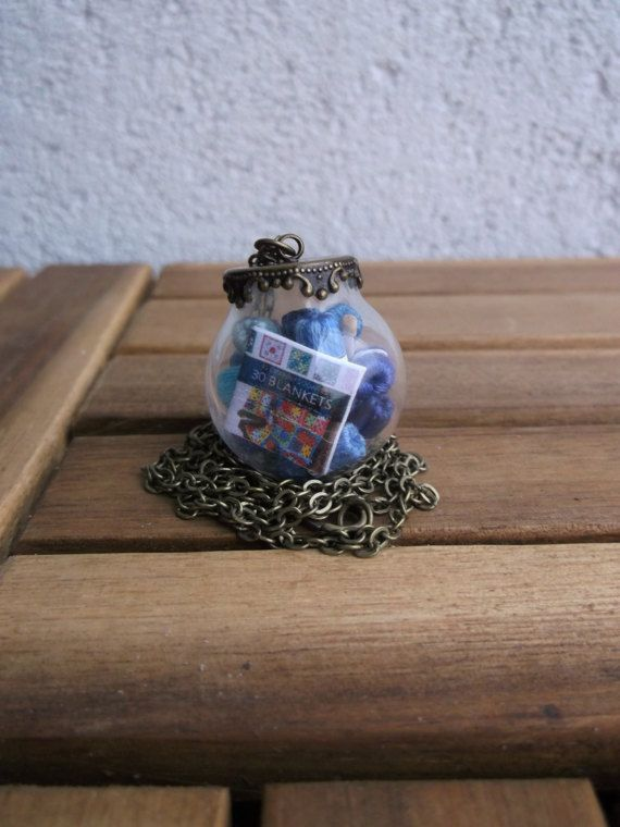 gift for crocheter crochet in bottle jewelry for by CrafterJewelry