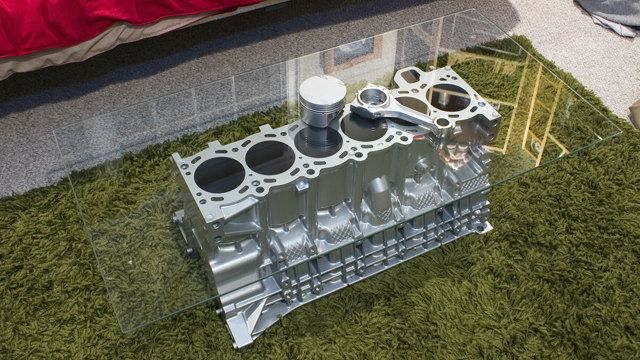 Engine coffee table for the hubby's man cave
