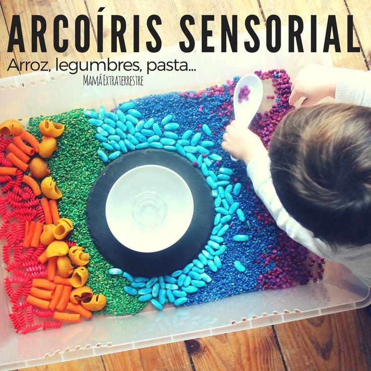 Arroz, legumbres, pasta... Arcoíris sensorial! Reggio Emilia, Sensory Integration, Sensory Activities, Occupational Therapy, Ideas Para, Fun Ideas, Pride, Box, Emotional Intelligence