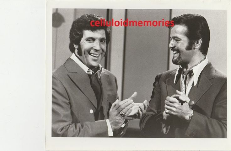 "Here's an original 7 x 9"" publicity photo of Tom Jones and Robert Goulet in This Is Tom Jones. What you see in the picture is a scan of the actual photo. This is being sold strictly as a collectors' item from one collector to another and no rights are transferred or implied. 
