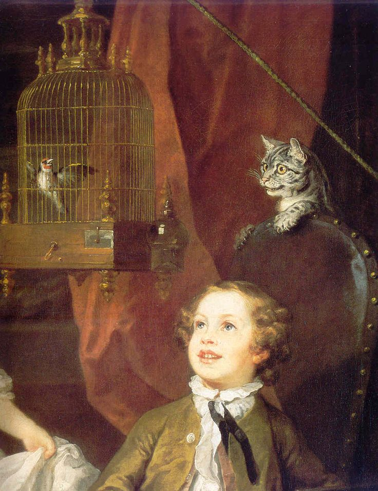 Children of Dr. Graham (detail) by William Hogarth, 1742 I adore this painting.